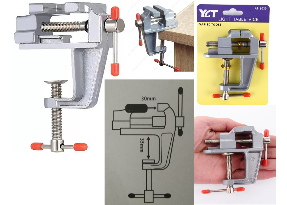 Generic 30mm Light Table  Vise Vice Aluminum Alloy Craft Clamp Varied Tool Vice for Handcraft