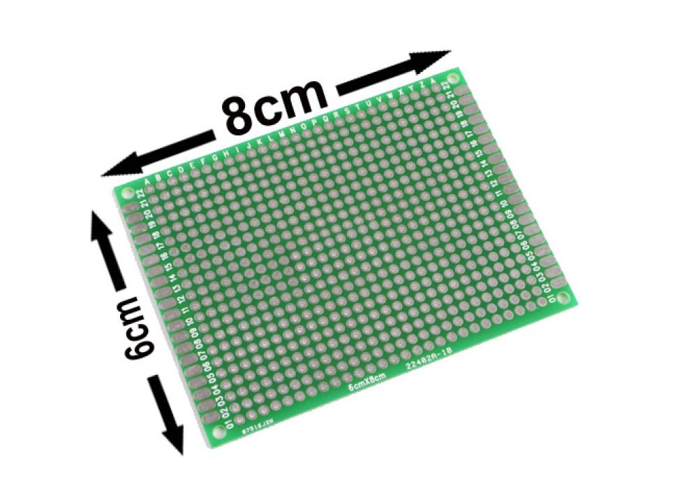 Double Side Prototype PCB Universal 6X8cm