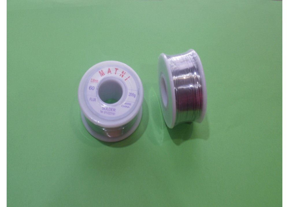 SOLDER 0.8mm 60% 200G