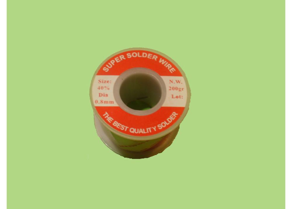 SOLDER SUPER SOLDER 40% 0.8mm 200G