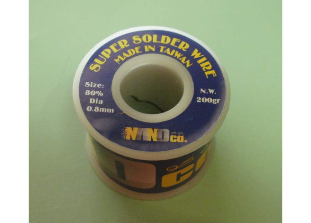 SUPER SOLDER 80% 0.8mm  200G