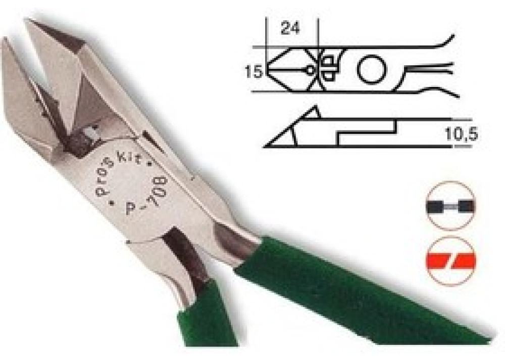 Proskit 1PK-708, Stripping pliers (copper up to 1.6mm, 150mm )