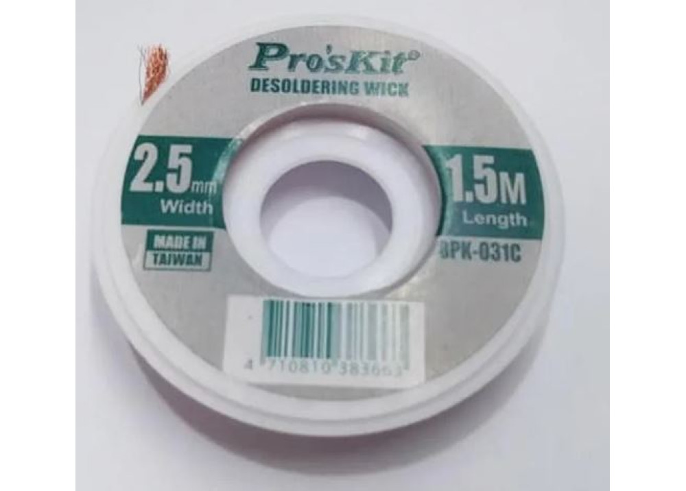 Desoldering Wick Pro sKit 8PK-031C 2.5mm