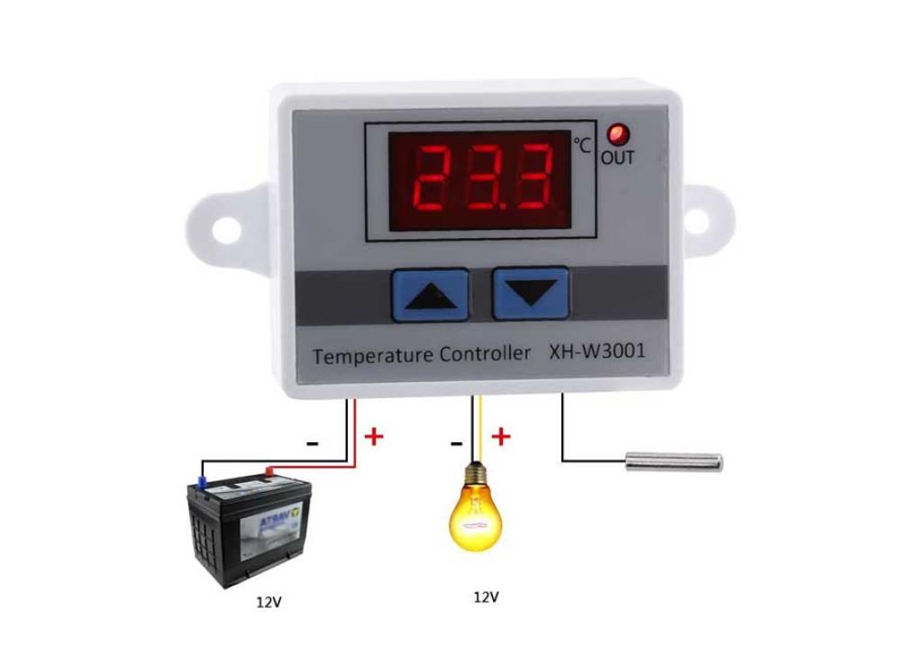 XH-W3001 12V Digital LED Temperature Controller 10A