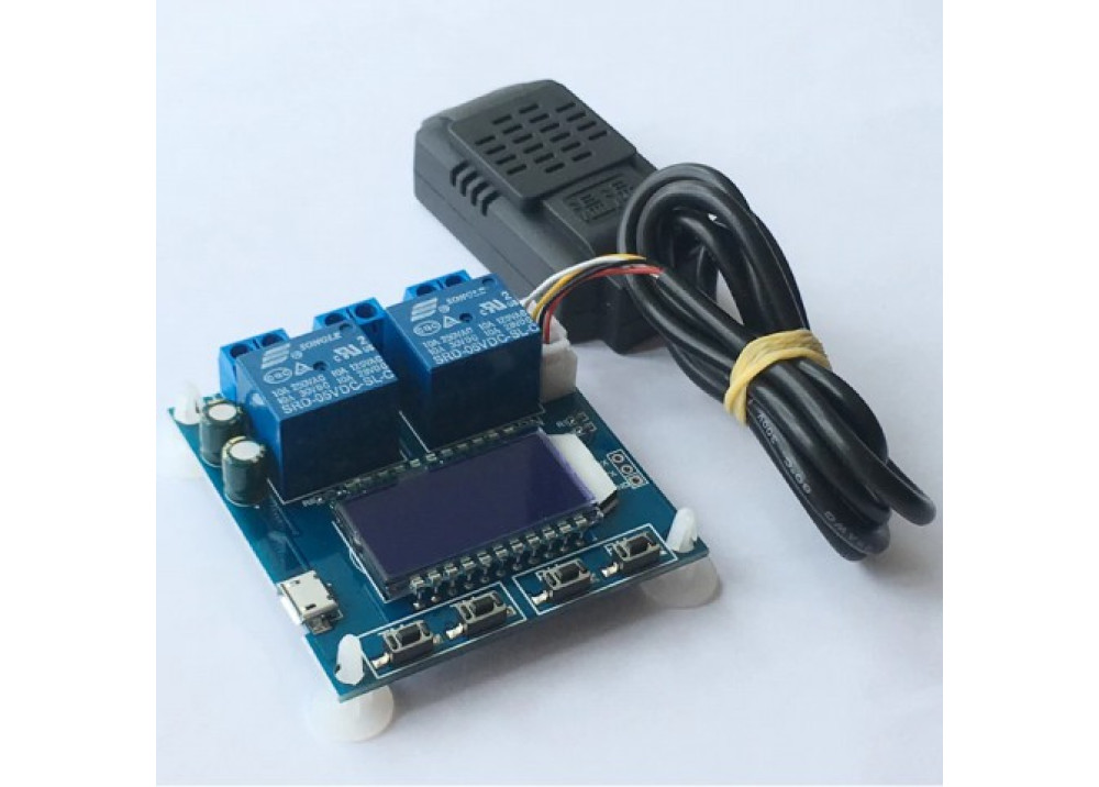 LCD Digital display Temperature and humidity Controller Automatic constant thermostat Humidity control with Sensor DC 12V