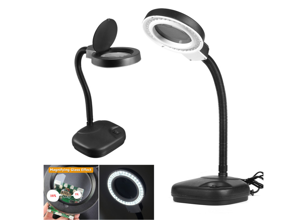 Desktop Magnifier  Lamp LED139  X5 X10
