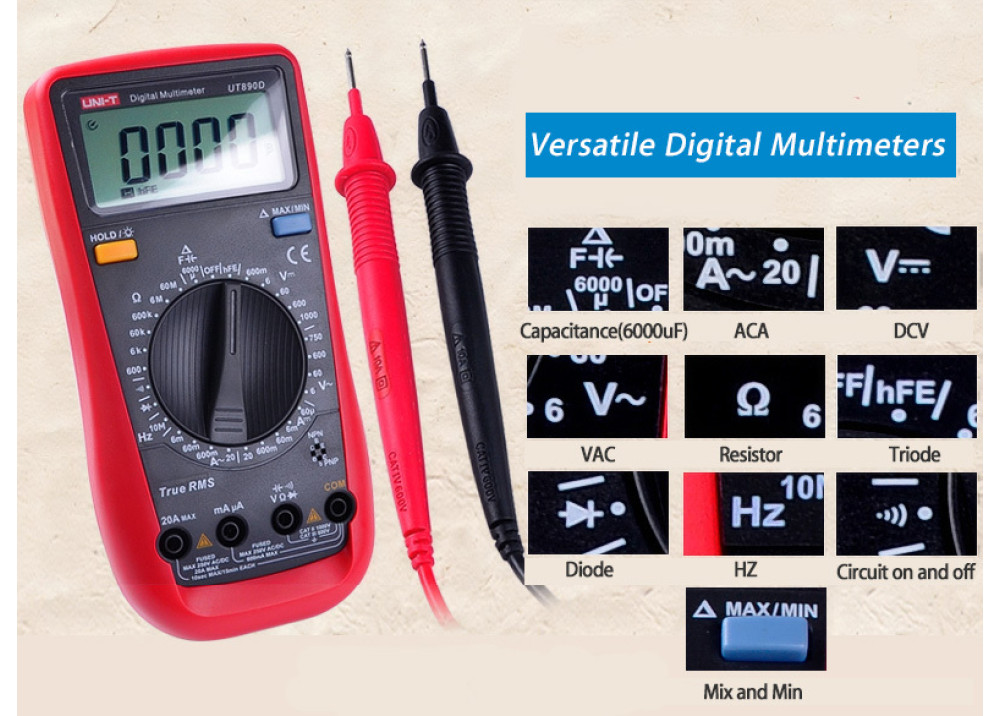 UNI-T Digital Multimeter True RMS UT890D