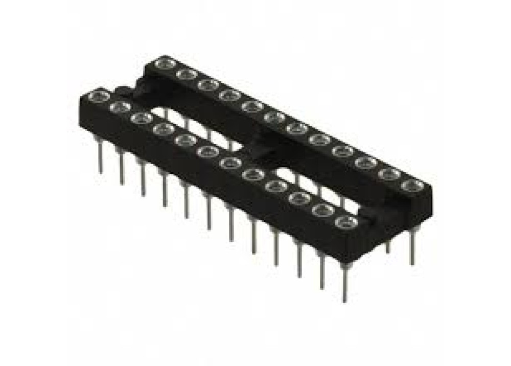 ROUNDED PIN IC SOCKET 22P