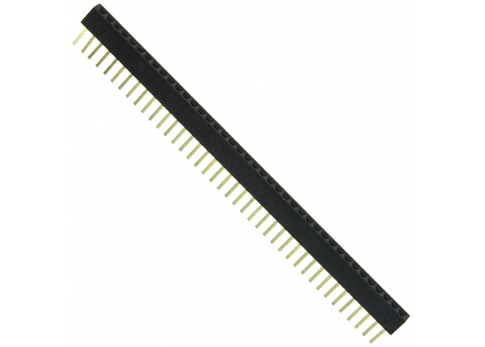 FHSS40P - 40 Pin .2.54mm Straight Female Headers - Single Row