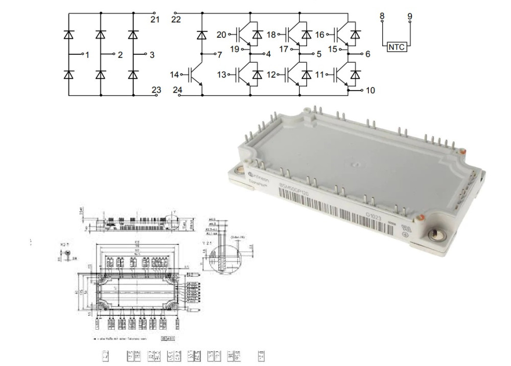 BSM50GP120 IGBT Module 50A 1200V
