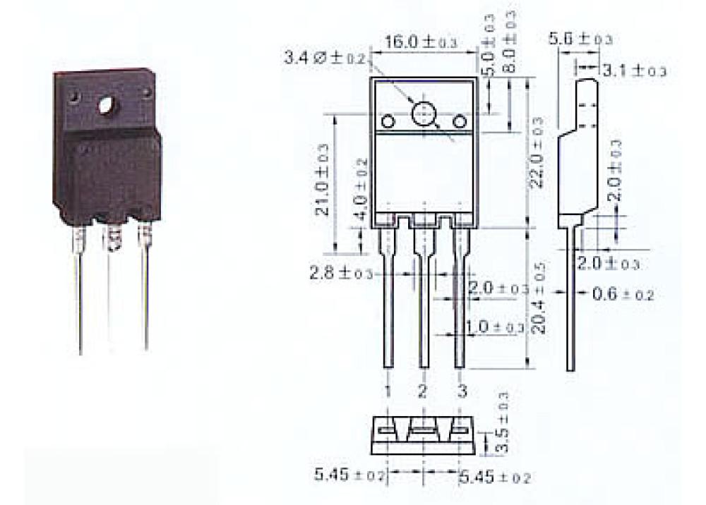 2SD1886 NPN 800V 8A 70W TO-3PML