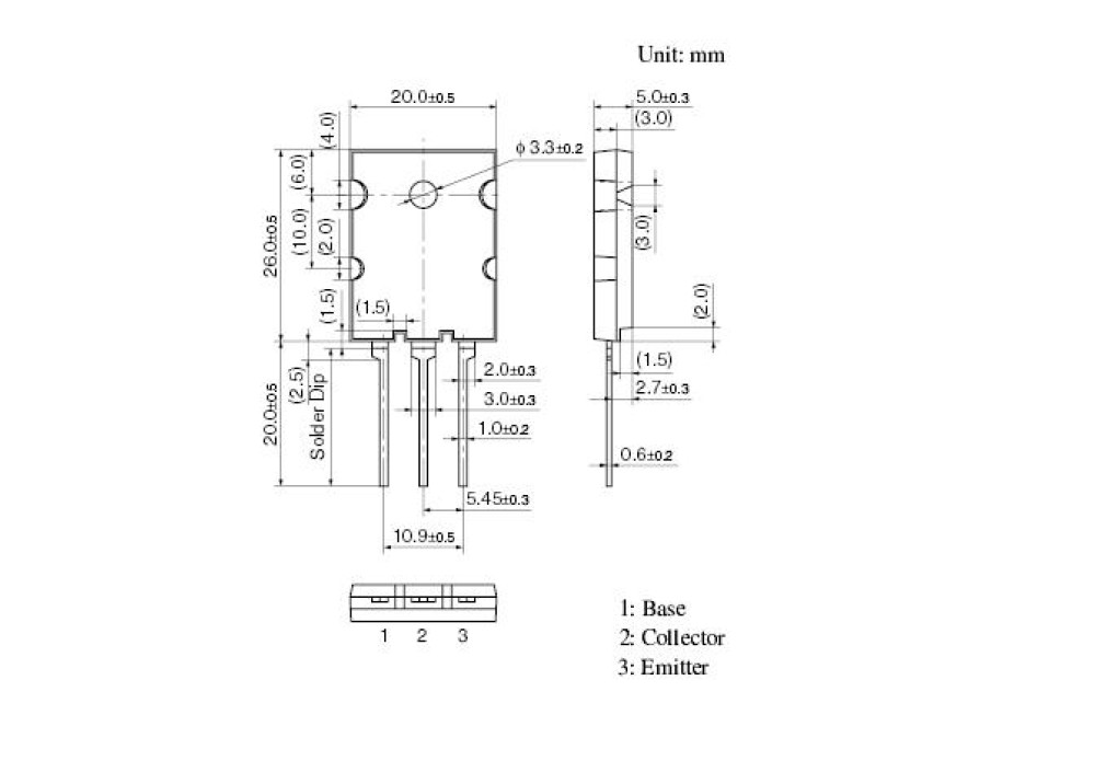 2SC5584 NPN 1500V 20A 150W TOP-3L-A1