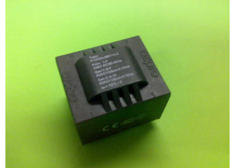 P-CD30-060113-2 PCB TRANSFORMER 6VX2 1.5VA 250mA