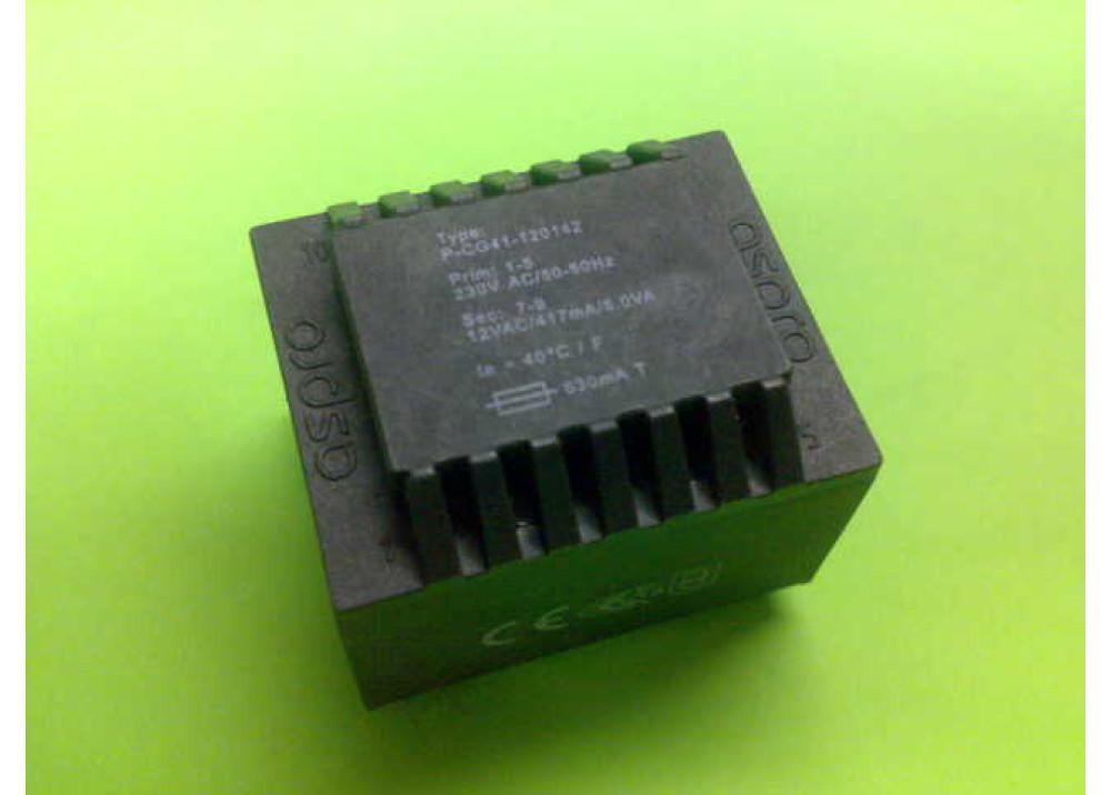 PCB TRANSFORMER 12VX1 5VA 417mA