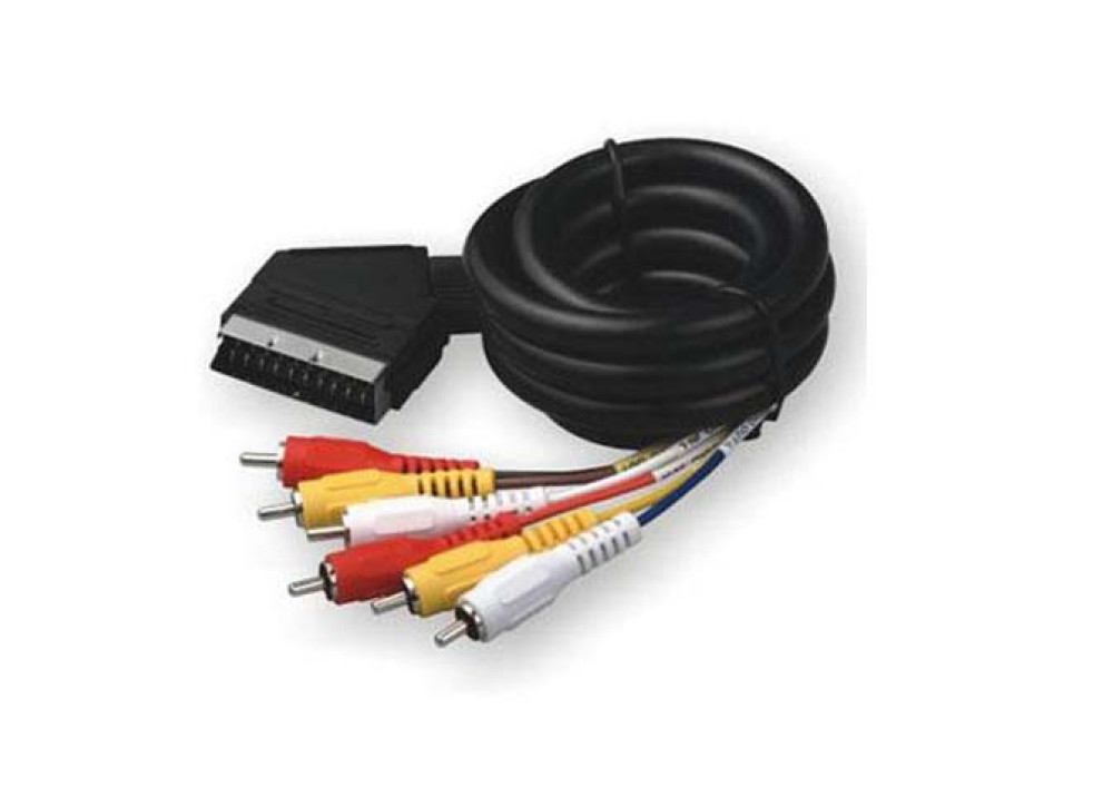 SCART TO 6RCA 2M