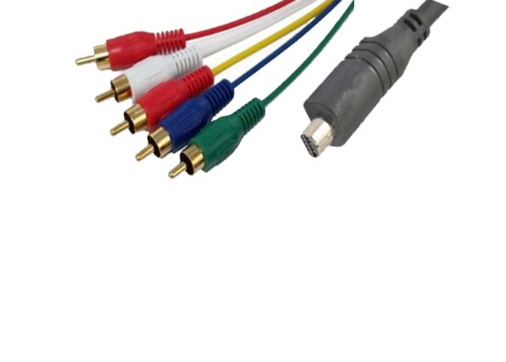 CABLE AV VIDEO TO 5RCA 1M