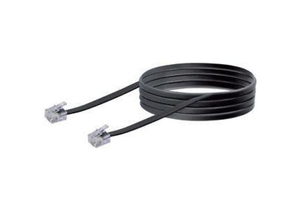 Telephone Cable  RJ11 Male To Male 15M