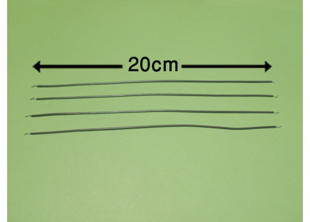 WIRE 20cm 1mm BLACK