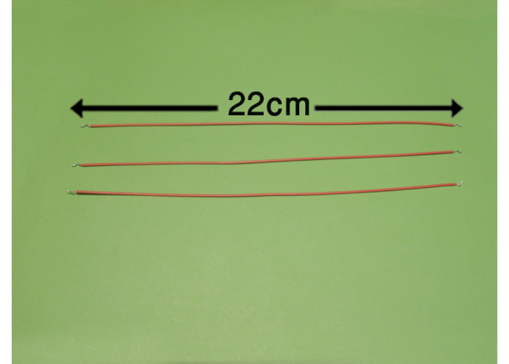 WIRE 22cm 1mm RED