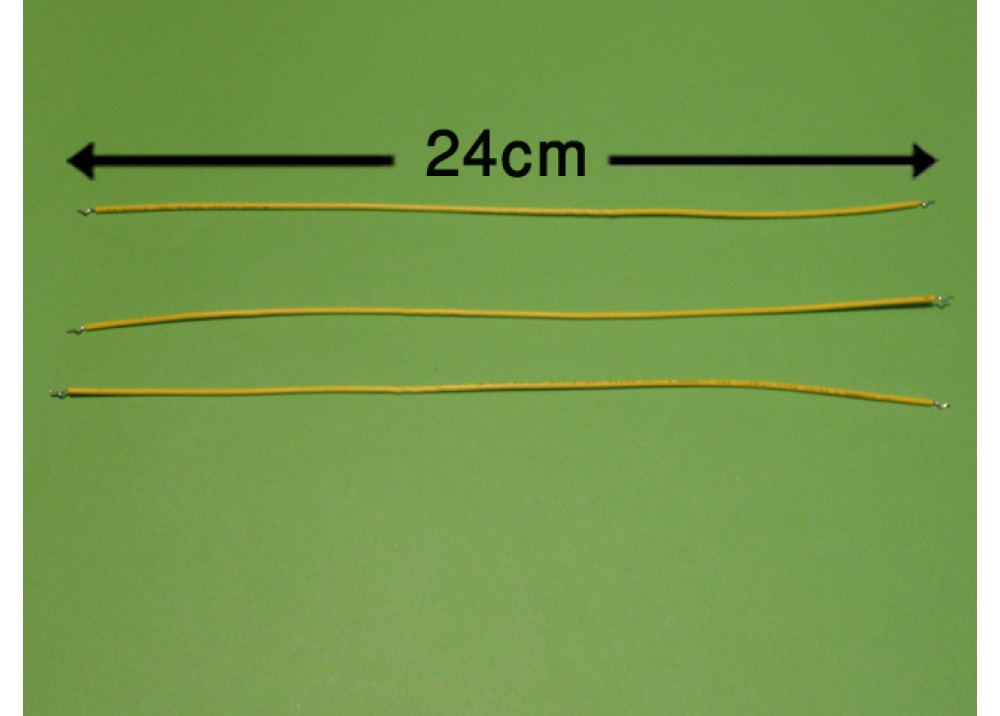 WIRE 24cm 1mm YELLOW