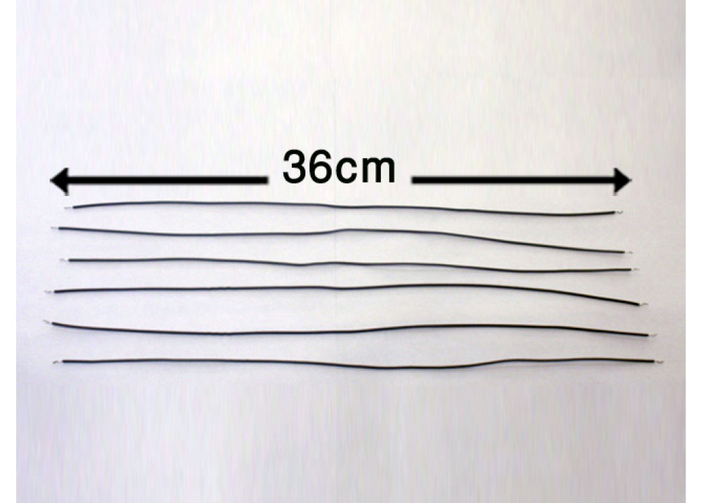 WIRE 36cm 1mm GREY