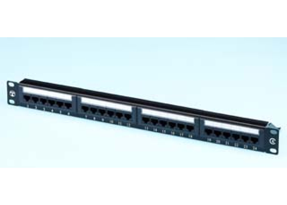 INTELLINET Patch Panel CAT6 Unshielded 24 Port 1U (Loaded)