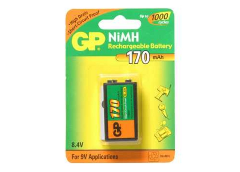 BATTRY GP 17R7H-U1 9V 170MA 1PCS