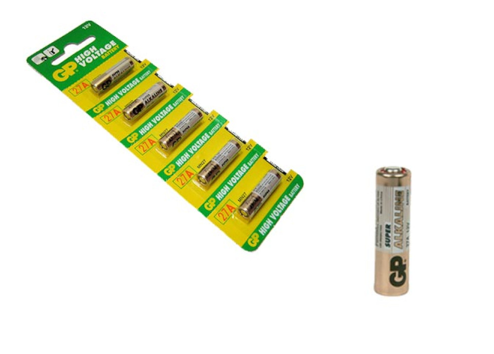 BATTERY ALKALINE GP 12V 27A 1PCS