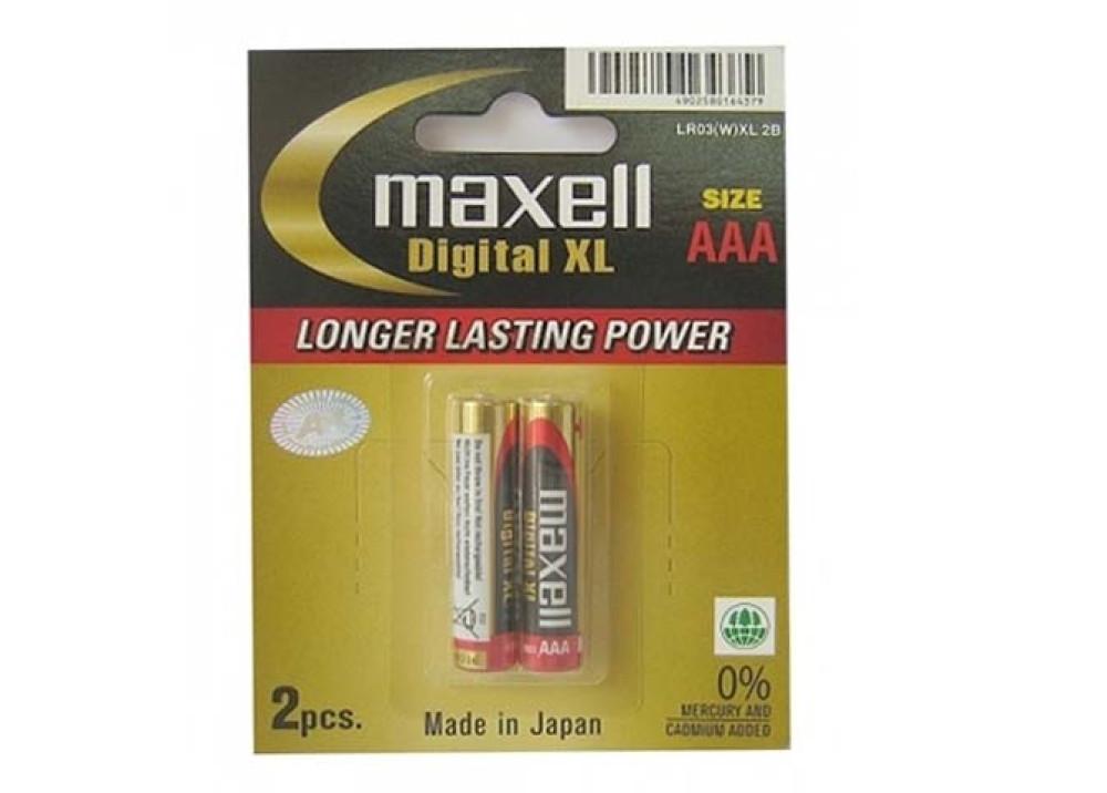 MAXELL ALKALINE Digital  XL  AAA 1.5V 2PCS