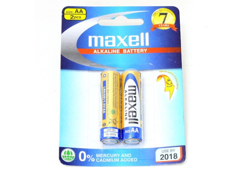 MAXELL ALKALINE LR6(GD)2B  AA 1.5V 2PCS