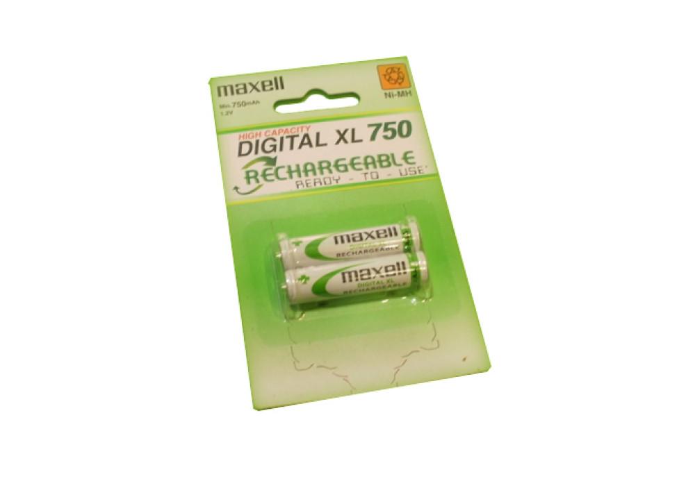 MAXELL Rechargeable Battery MHR4SAY.2B 1.2V AAA  750mA 2PCS