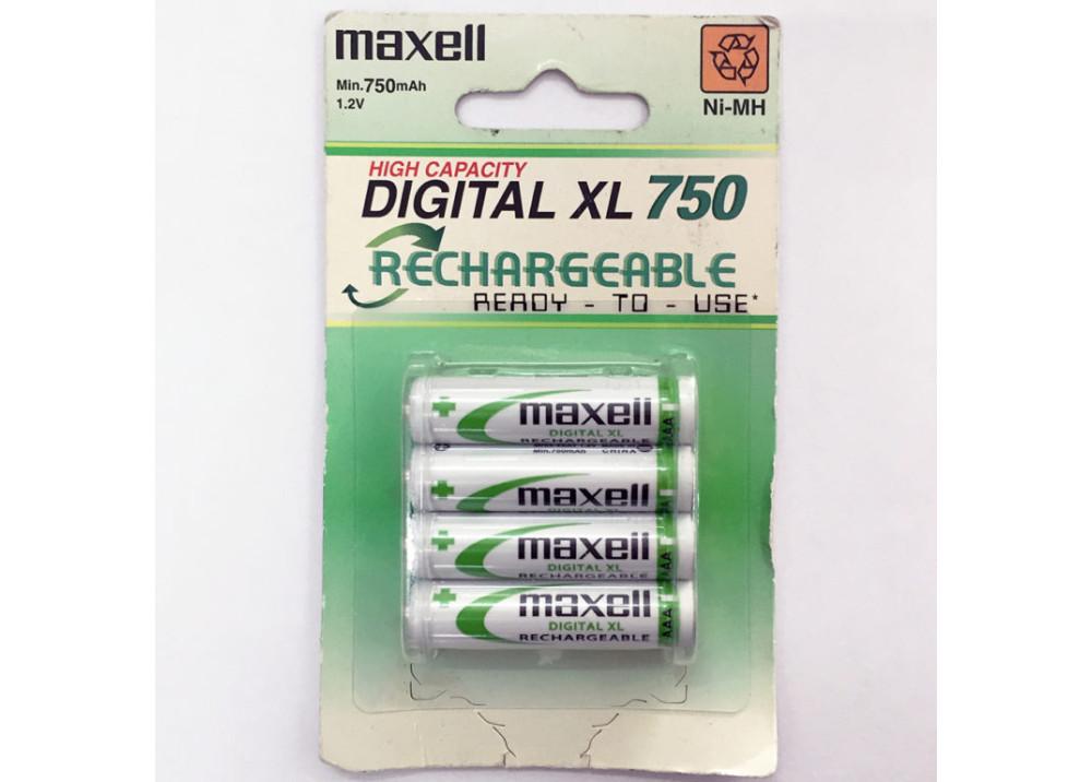 MAXELL Rechargeable Battery MHR4SAY.4B 1.2V AAA  750mA 4PCS