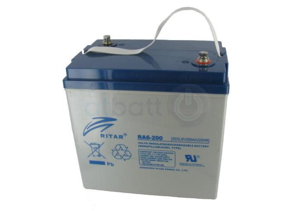 GEL Battery  RITAR 6V 200A