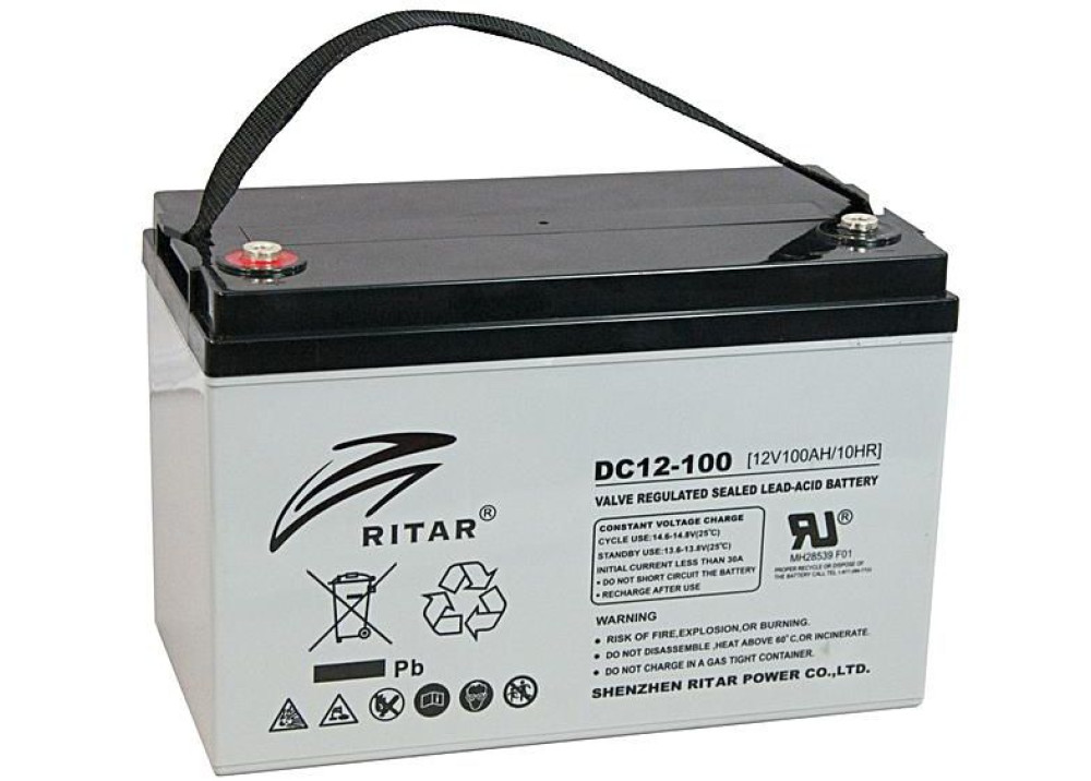 Deep Cycle  Battery  DC12-100 10HR RITAR 12V 100A