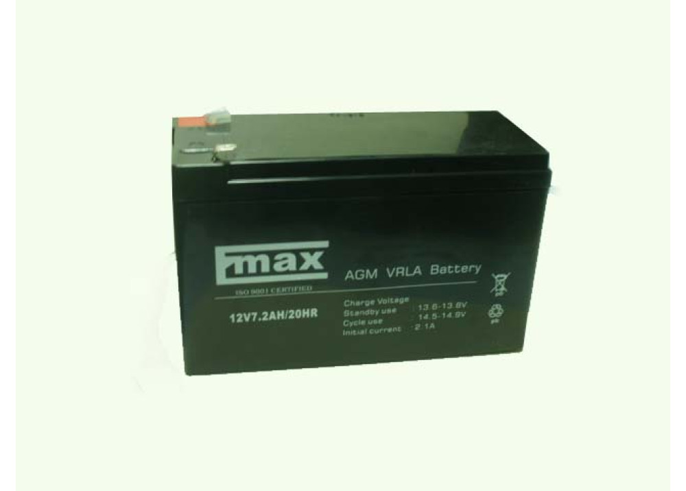 BATTERY EMAX12V 7.2A