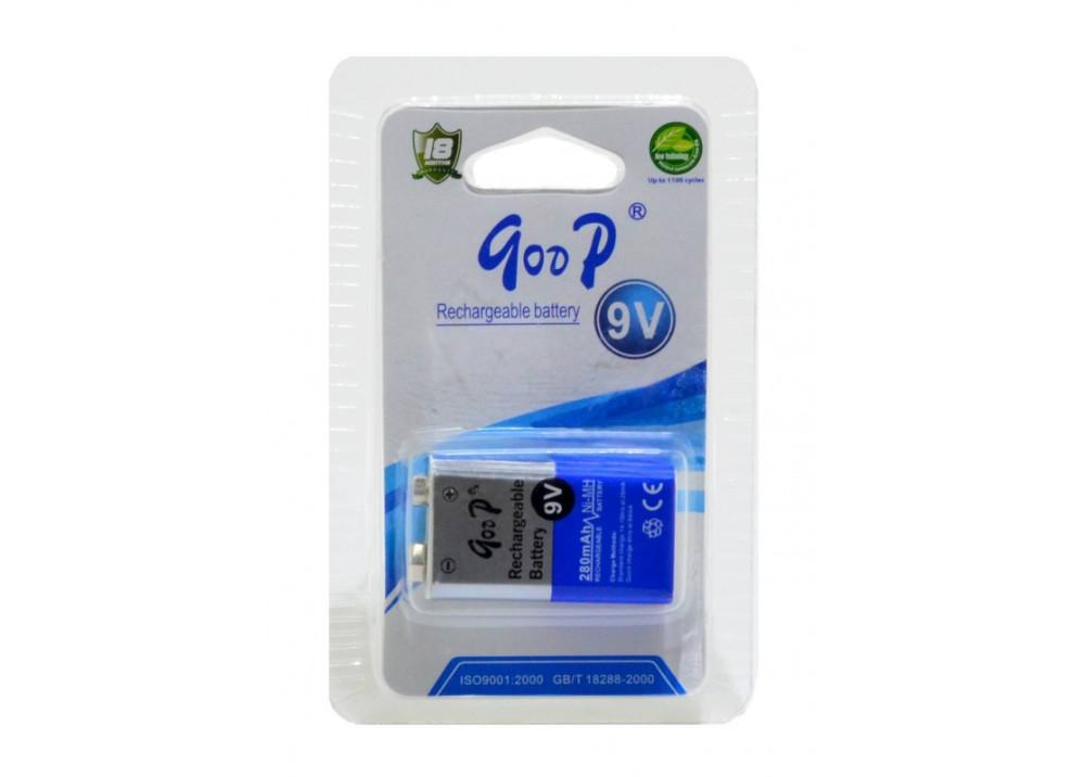 Battery Rechargeable Goop 280mAh size 9V HR9V