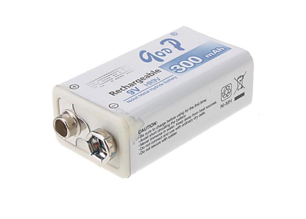 Battery Rechargeable Goop 300mAh size 9V HR9V-300