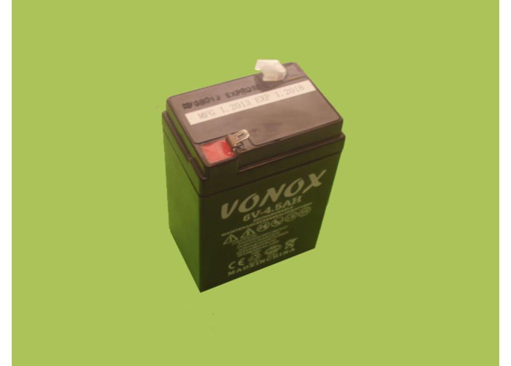 BATTERY VONOX 6V 4.5A