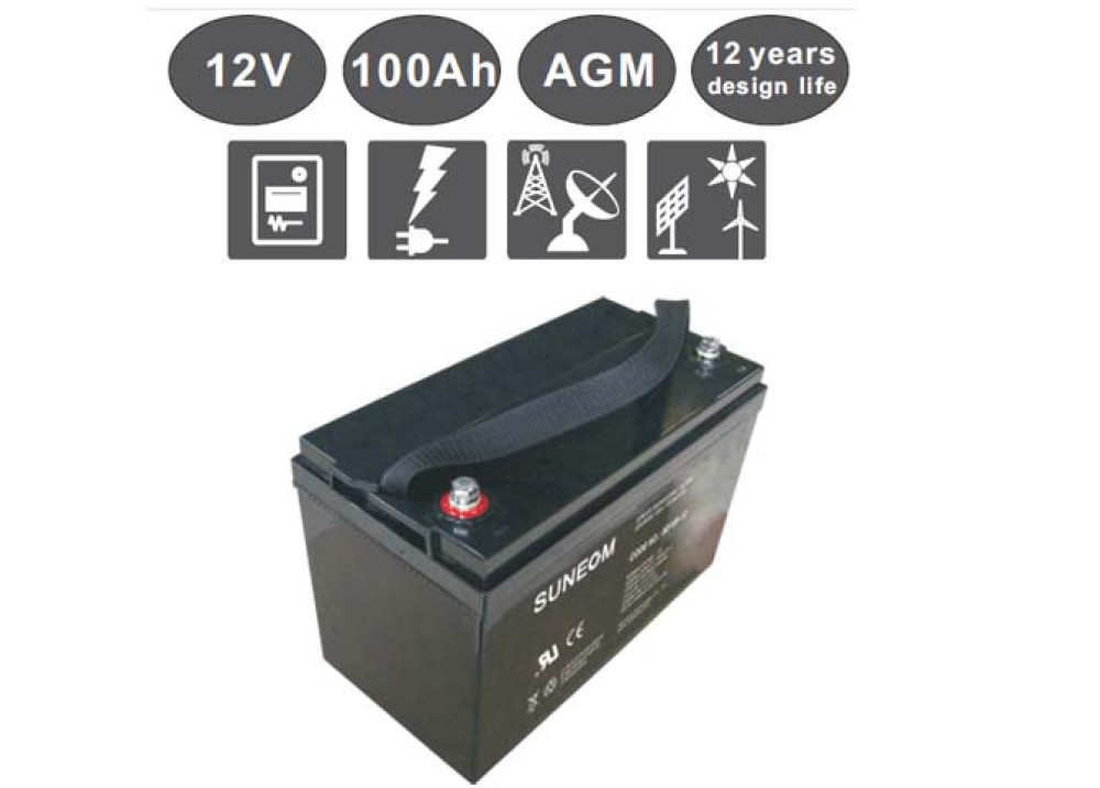 DEEP CYCLE  BATTERY Suneom 12V 100A