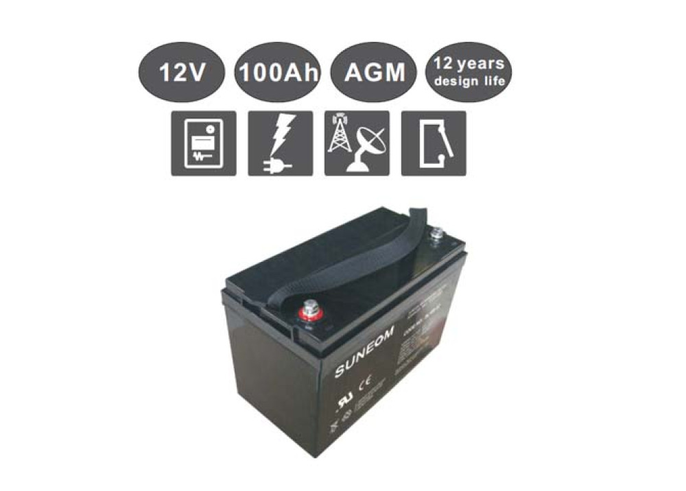 LONG LIFE  BATTERY Suneom 12V 100A