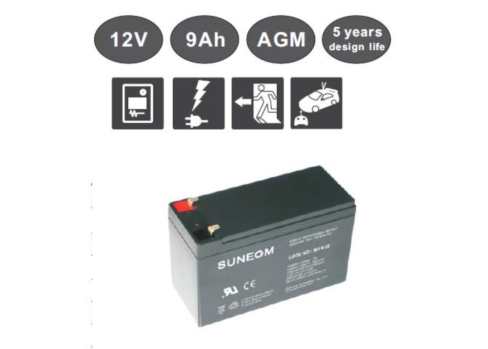 LONG LIFE  BATTERY Suneom 12V 9A
