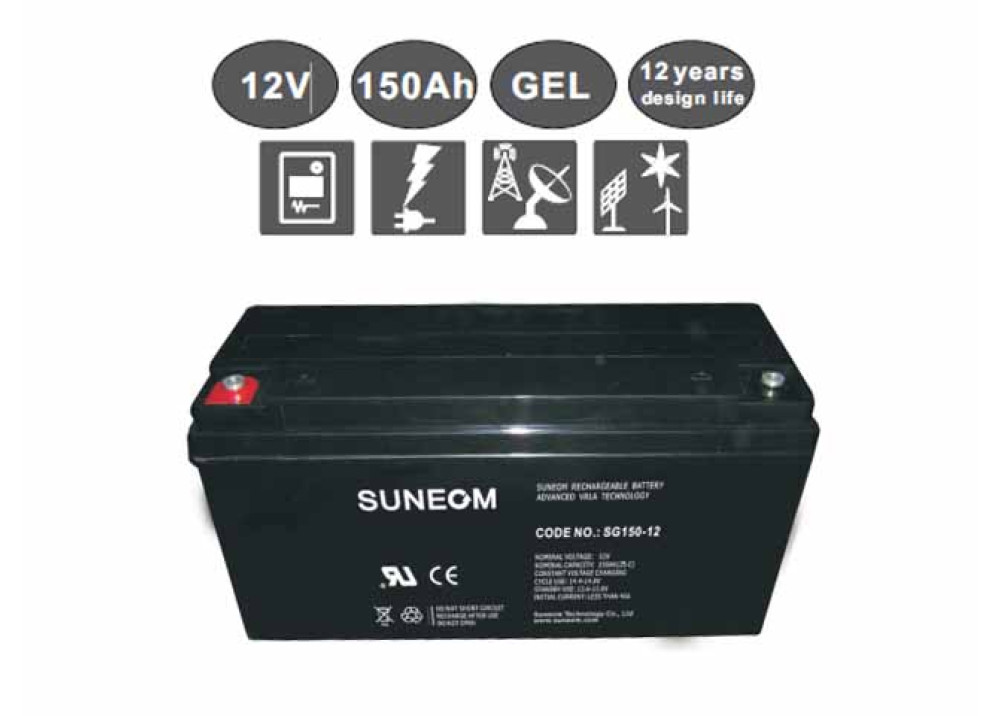 DEEP CYCLE GEL  BATTERY Suneom 12V 150A