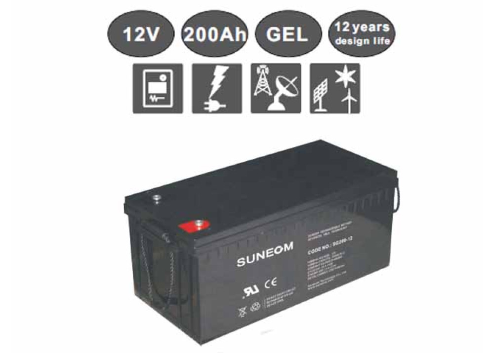 DEEP CYCLE GEL  BATTERY Suneom 12V 200A