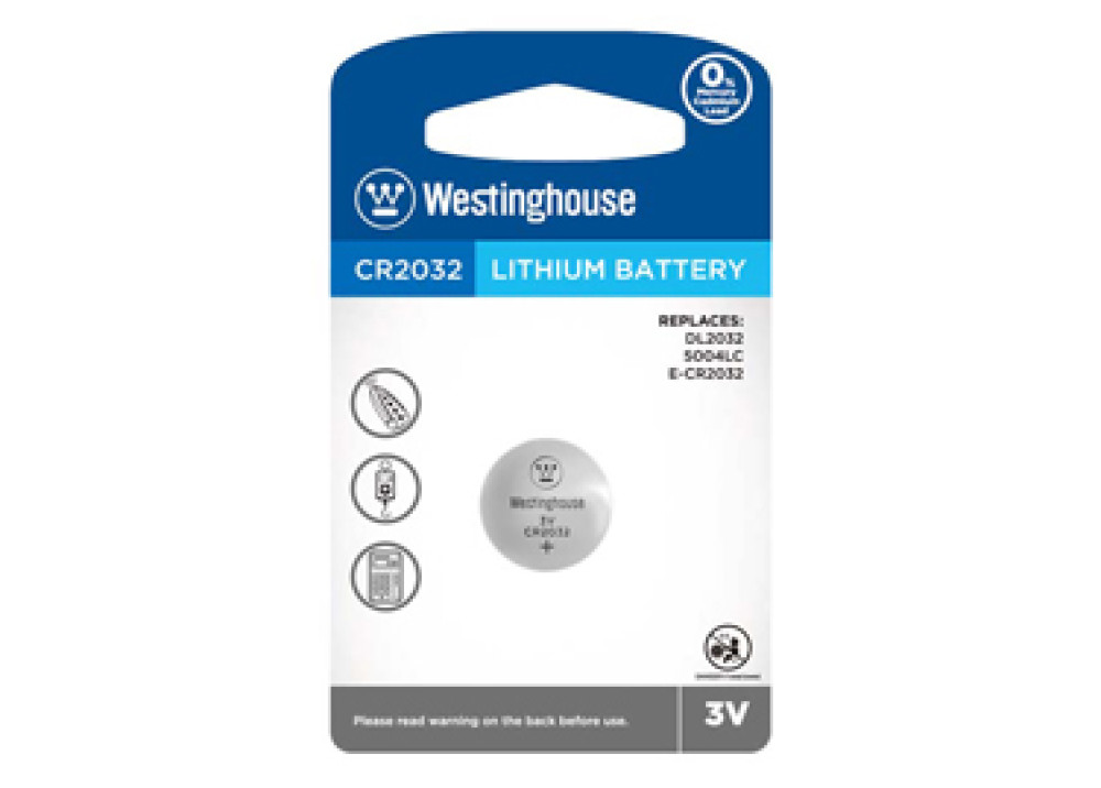 Westinghouse  Lithium Battery 3V CR2032-BP1