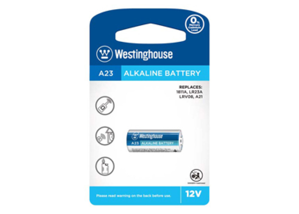Westinghouse  Alkaline Battery 12V A23-BP1 1.Pc