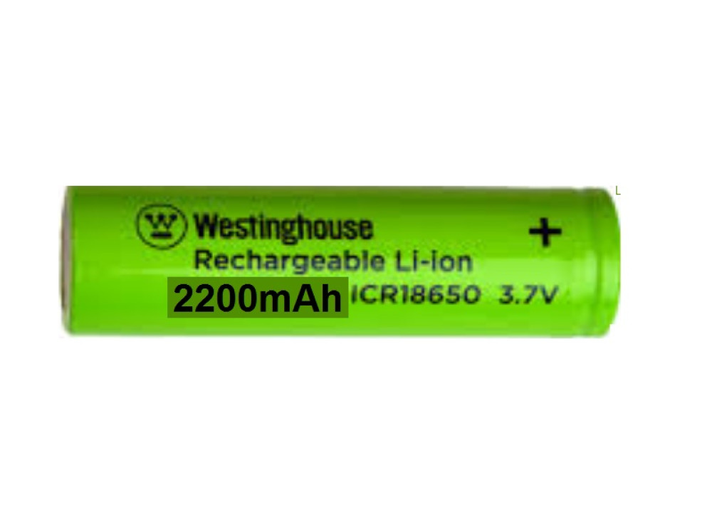 Westinghouse  Lithium-ion Battery 3.7V 2200mA ICR18650F-22