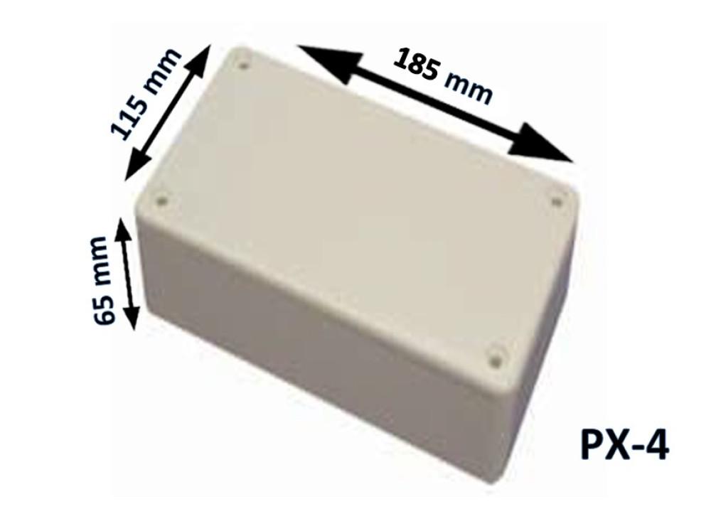 Plastic Box Enclosure PX-4  185x115x65 mm