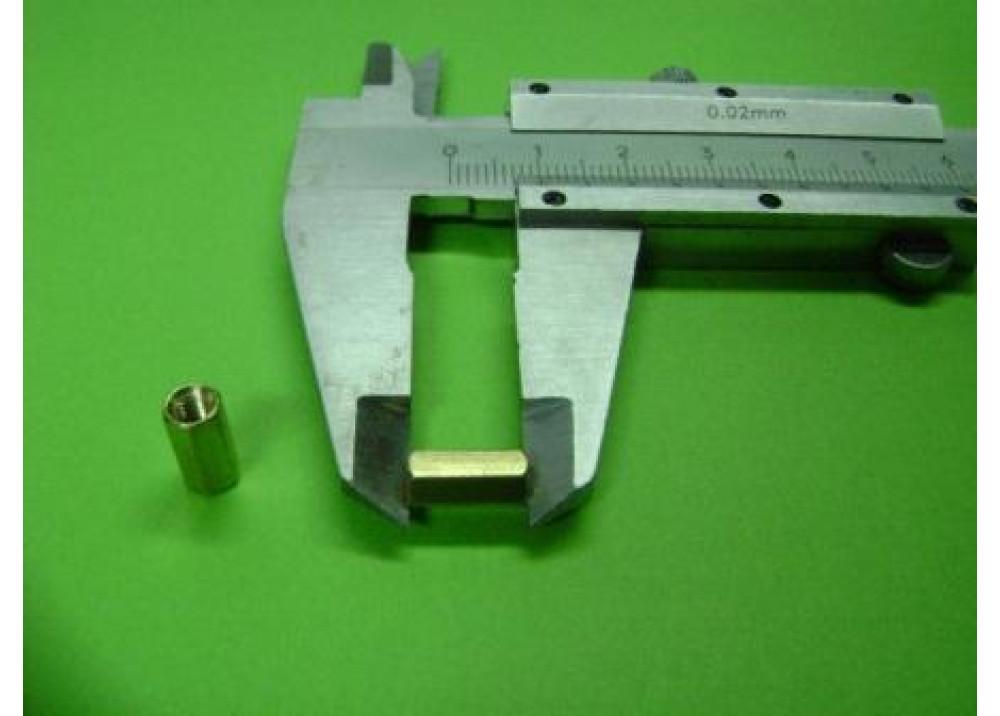 Spacer Brass M3 10mm 3mm 3mm FF