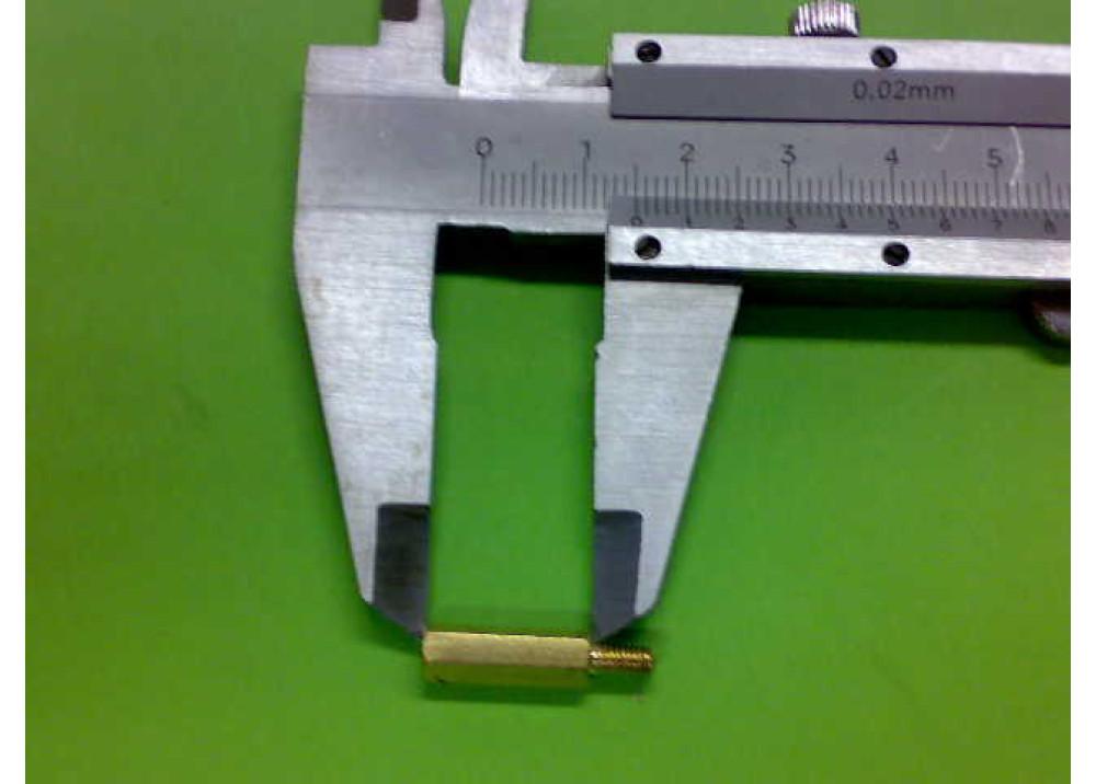 Spacer Brass M3 15mm 4.5mm 3mm MF