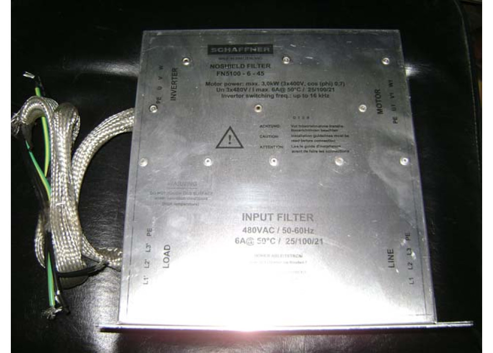 MOTOR FILTER FN5100-6-45 3X480V 6A